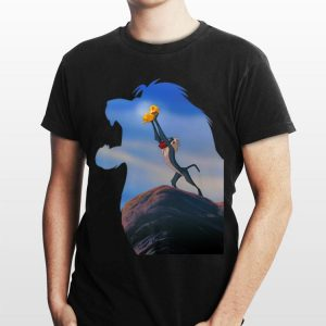 Disney Lion King Mufasa Silhouette Pride Rock Rafiki Simba shirt