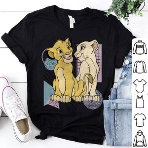 Disney Lion King Simba Nala Valentine's Eyes shirt