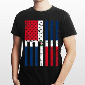 Dominican Republic American Flag For New Us Citizen shirt