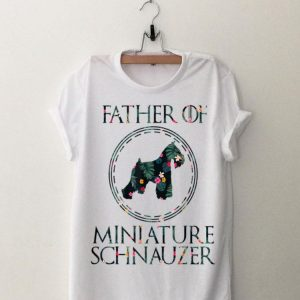 Father Of Miniature Schnauzer Floral shirt