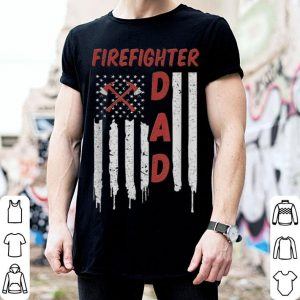 Firefighter American Flag Dad shirt