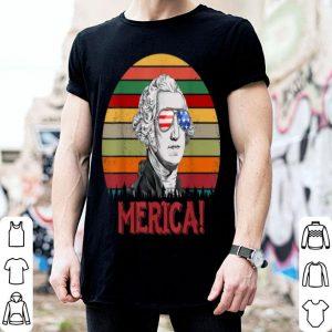 George Washington Merica 4th of July Vintage American Flag shirt