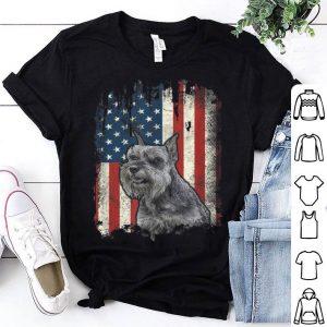 Giant Schnauzer American Flag USA Patriotic Dog shirt