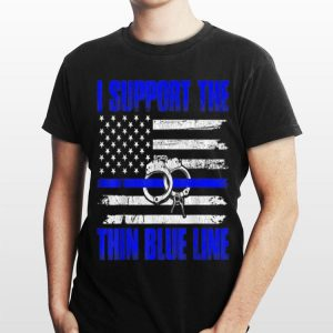 I Support The Thin Blue Line American Flag Police shirt