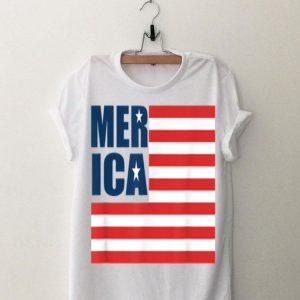Merica USA American Flag Patriotic 4th of July Flag Day shirt