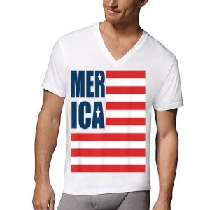 Merica USA American Flag Patriotic 4th of July Flag Day shirt