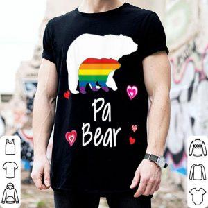 Pa LGBT Bear Gay Lesbian Pride Rainbow Heart shirt