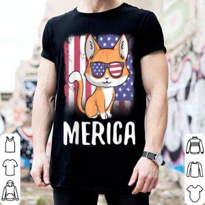 Patriotic USA Flag 4th Of July Merica Cat shirt