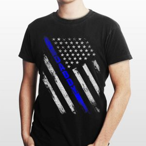 Police Daddy Thin Blue Line Gift Fathers Day shirt