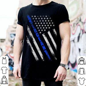 Police Sergeant Thin Blue Line American Flag shirt