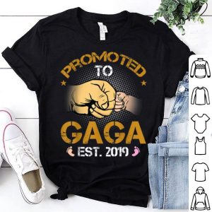 Promoted To Gaga Est 2019 New Dad Fathers Day shirt