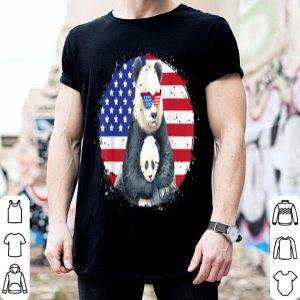 Proud Panda Mom 4th of July Sunglasses USA Grunge Flag shirt