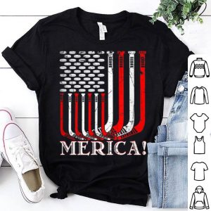 Retro Vintage Merica Hockey American Flag shirt