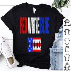 USA Flag 4th July 4 Red White Blue Stars Stripes shirt
