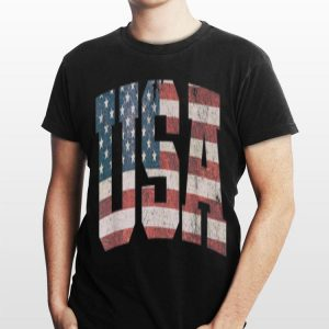 USA Flag Patriodic 4th Of July American shirt