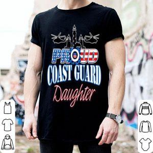 USA Proud Coast Guard Daughter USA Flag Military shirt