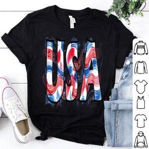 Usa American Flag Stripes Fireworks 4th Celebration shirt