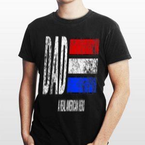 Vintage Dad A Real American Hero Distressed American Flag shirt