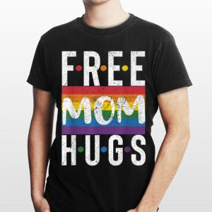 Vintage Free Mom Hugs Rainbow Flag Pride Month shirt