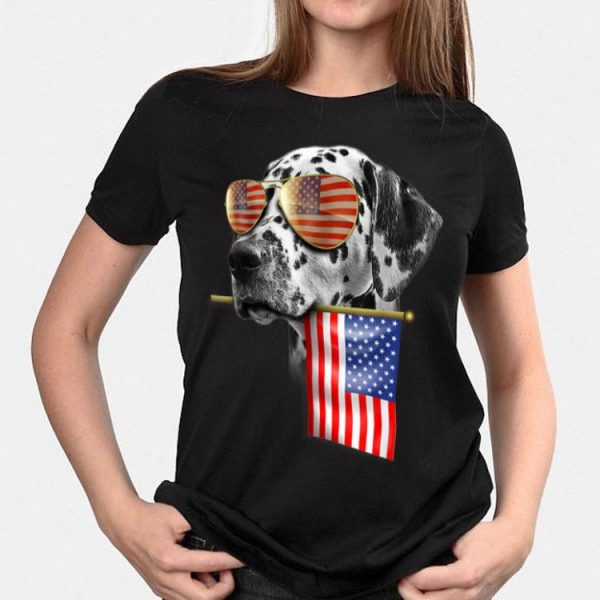 4Th Of July American Flag Dalmatian Dog Lover shirt