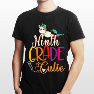 9th Grade Cutie First Day Of School Kids Gif shirt