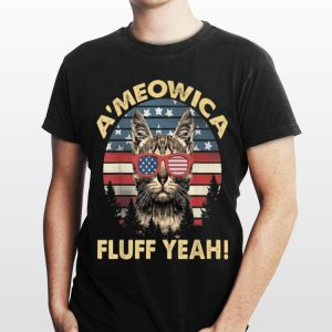 A'meowica Fluff Yeah Cat Lover US 4th Of July shirt