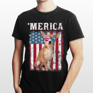 American Flag Chihuahua Dog Patriotic Men Women Kids shirt