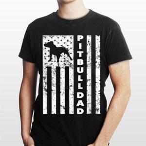 American Pitbull Dad Us Flag shirt