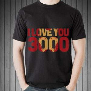 Awesome I Love You 3000 Marvel Avengers Endgame Iron Man Text shirt