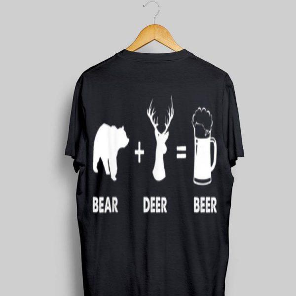 Bear Deer Beer Drinking Alcohol Lover shirt