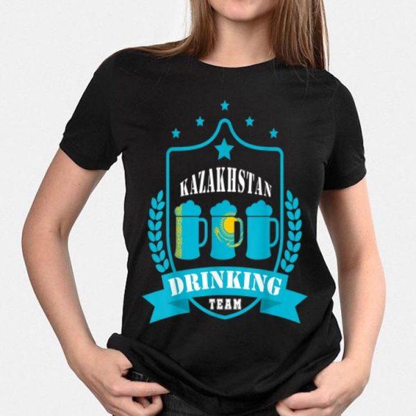 Beer Kazakhstan Drinking Team Casual Kazakhstan Flag shirt
