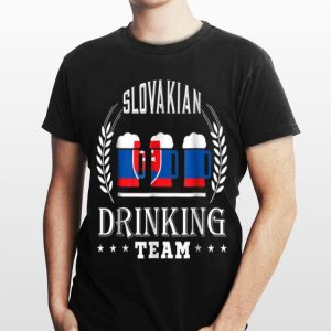 Beer Slovenian Drinking Team Casual Slovakia Flag shirt