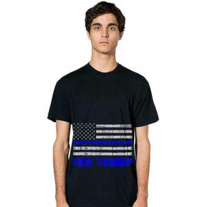 Blue Line USA Flag For Trump hoodie 2
