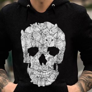 Cat Skull Skeleton Halloween Costume Idea guy tee