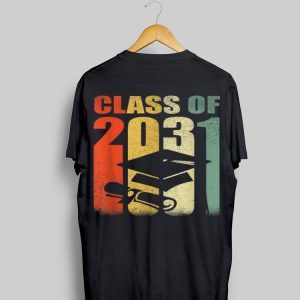 Class Of 2031 Grow With Me Vintage First Day Of School shirt