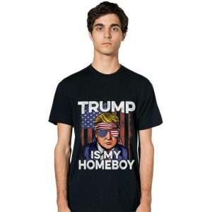 Donald Trump Is My Homeboy Glasses Headband Usa Flag 4th Of July long sleeve