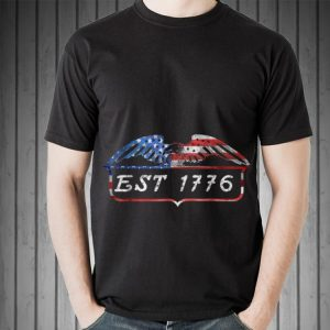 EST 1776 Patriot 4th Of July American Bald Eagle Independence Day Sweater