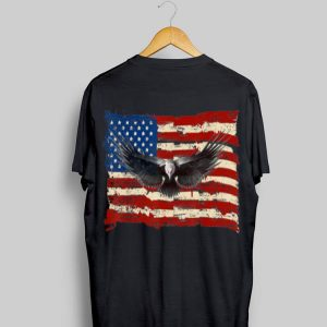 Eagle American Flag Cool Retro Vintage 4Th July Independence Day shirt