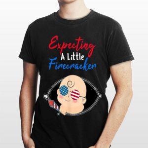 Expecting A Little Firecracker Pregnancy 4Th Of July shirt