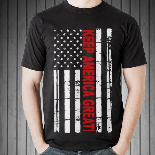 Keep America Great American Flag 2020 Presidential Support Sweater