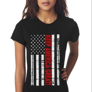 Keep America Great American Flag 2020 Presidential Support Sweater 2