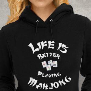 Life Is Better Playing Mahjong Youth tee