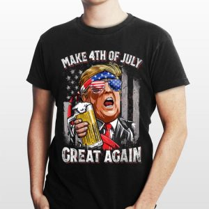 Make 4Th Of July Great Again Trump Beer Sunglass shirt