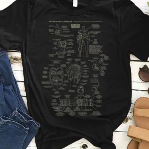Marvel Iron Man Stark Industries Armor Details guy tee