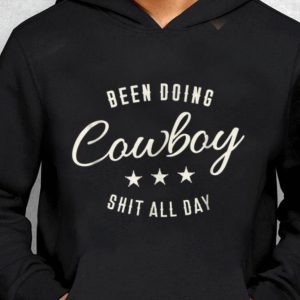 Nice Been Doing Cowboy Shit All Day Star guy tee