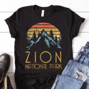 Nice Trend Vintage Retro Zion National Park Utah shirt