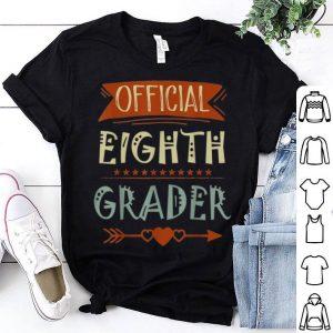 Official 8th Grader 8th Grade Back To School shirt