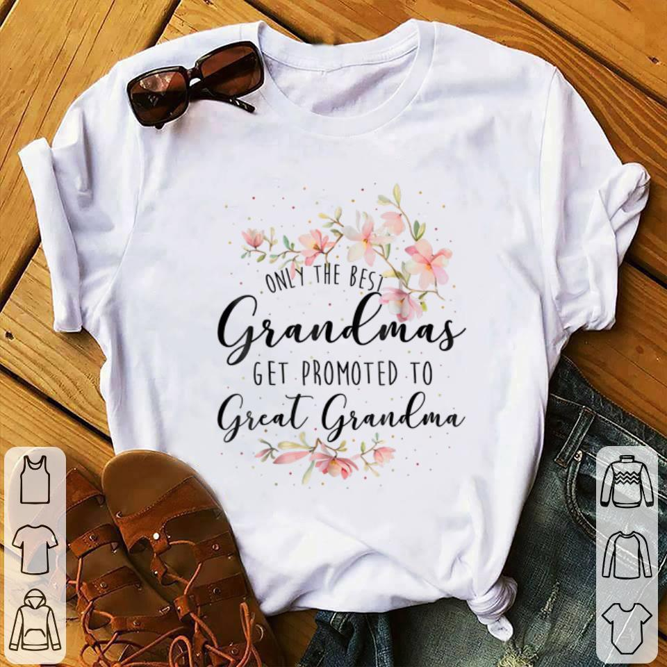 Only The Best Grandmas Get Promted To Great Grandma Floral Youth tee 1 - Only The Best Grandmas Get Promted To Great Grandma Floral Youth tee