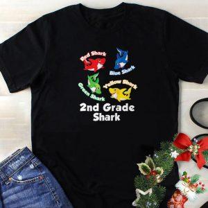 Original Red Blue Green Yellow Shark 2nd Grade Shark shirt