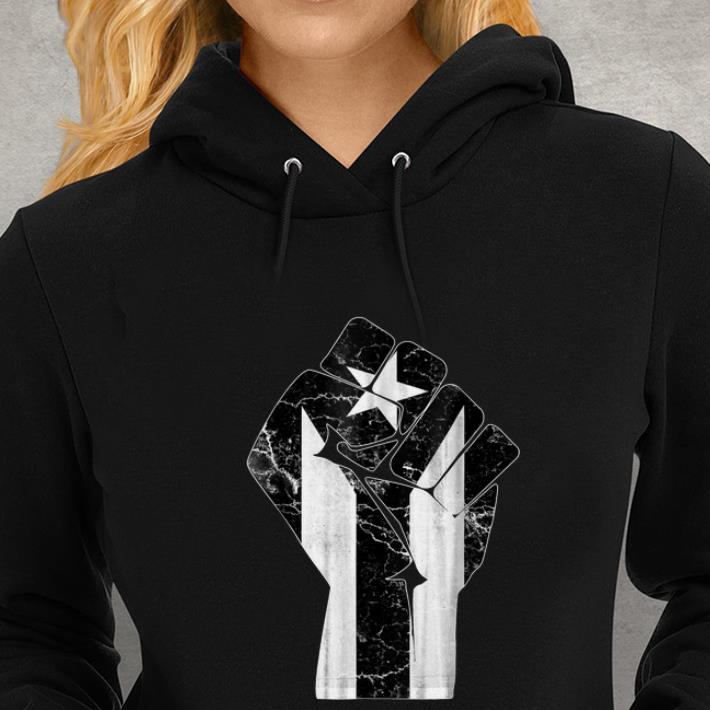 Womens Puerto Rico Resiste Hoodie Sweatshirt
